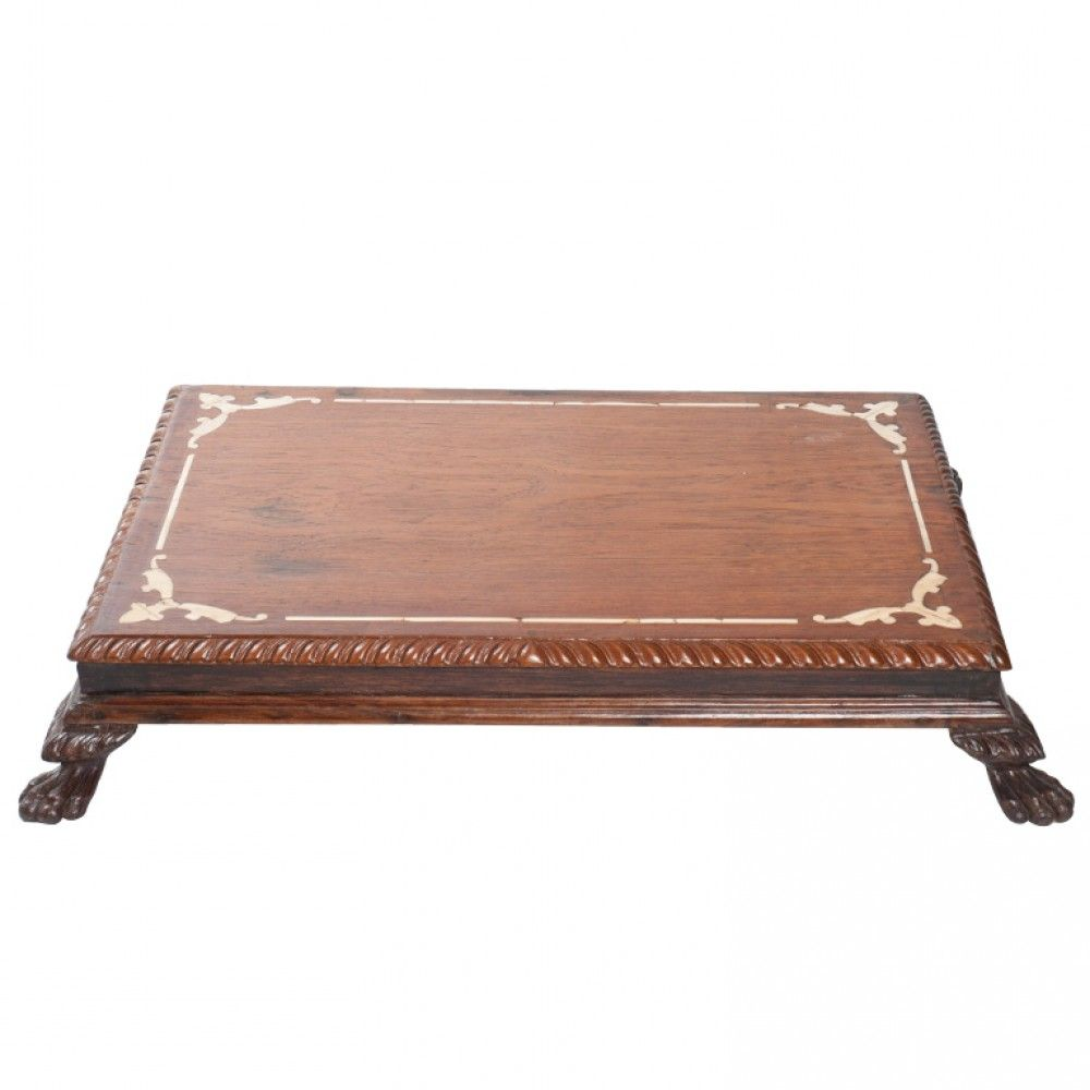 AntiquesFurnitures  Anglo Indian Ivory Inlay Foot Stool or Low Table Teak  wood and. AntiquesFurnitures  Anglo Indian Ivory Inlay Foot Stool or Low