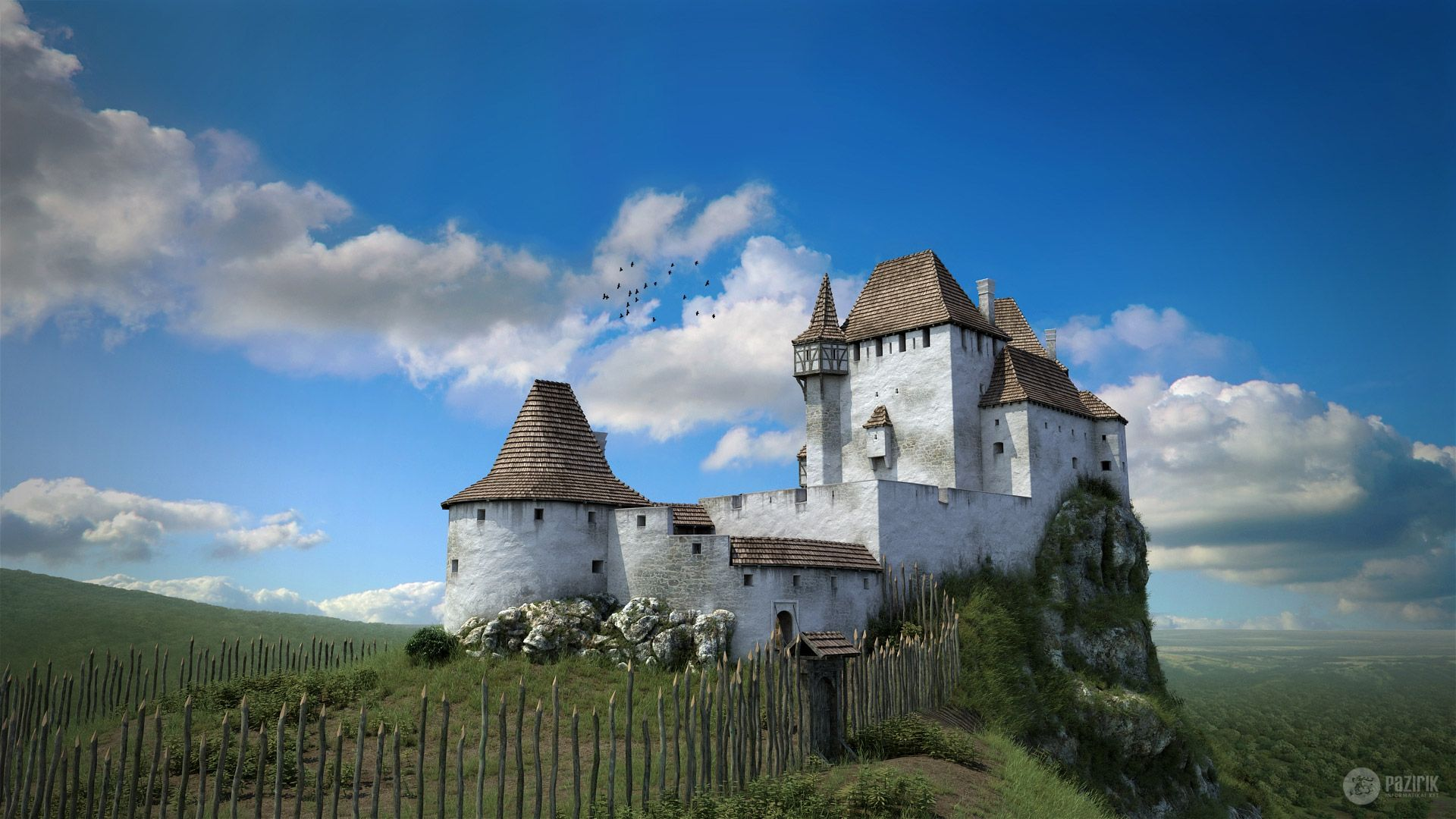 Drégely Castle - 3D reconstruction by Pazirik | Castles of Medieval
