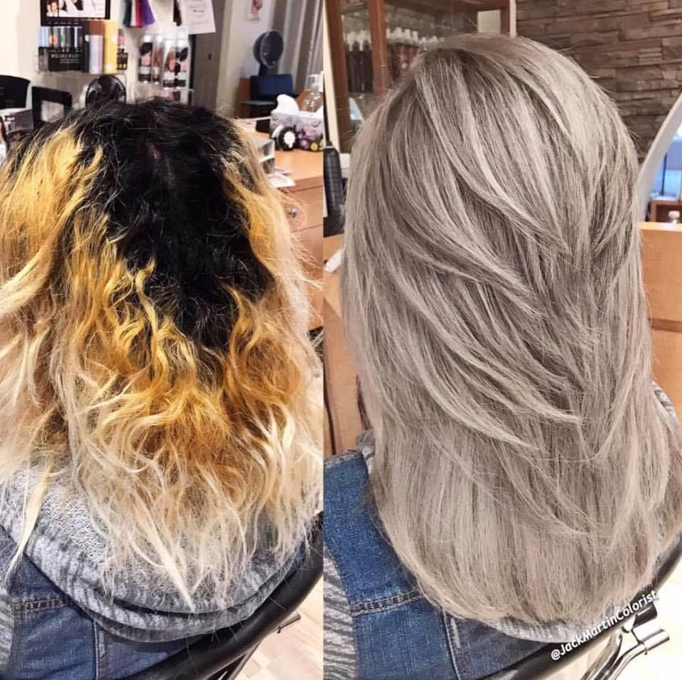 This Is Such An Incredible Box Color To Ashy Blonde Transformation By Jack Of Jack Martin Salon With Olaplex Blonde Hair Color Hair Styles Hair Color Formulas