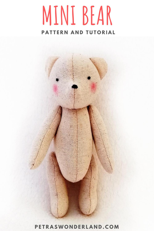 Pdf Bear 6 Tall Sewing Pattern And Tutorial Mini Keepsake Etsy Keepsake Bear Stuffed Animal Patterns Sewing Stuffed Animals [ 1500 x 1000 Pixel ]
