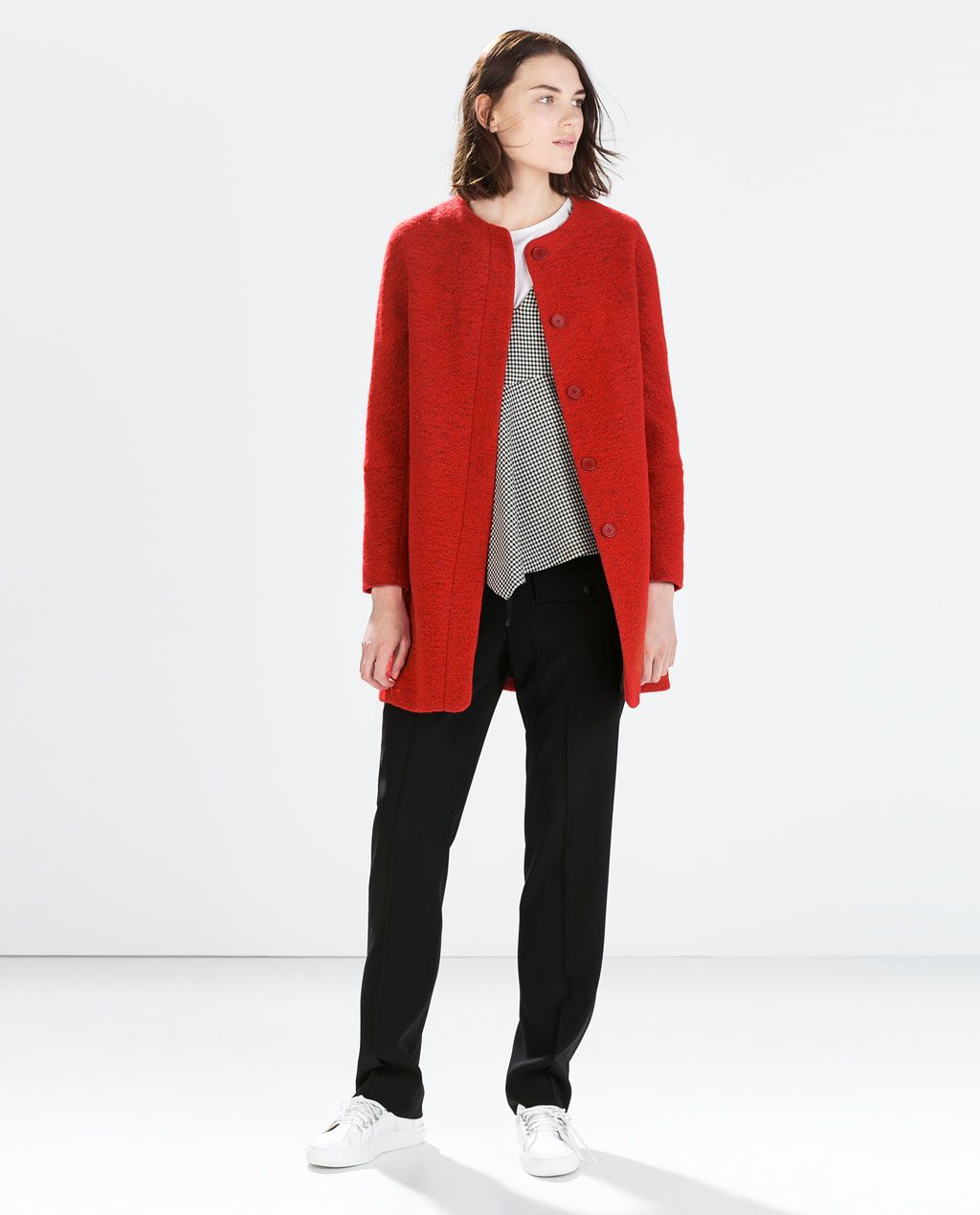 Image 1 of WOOL COAT from Zara Wool coat, Coats for