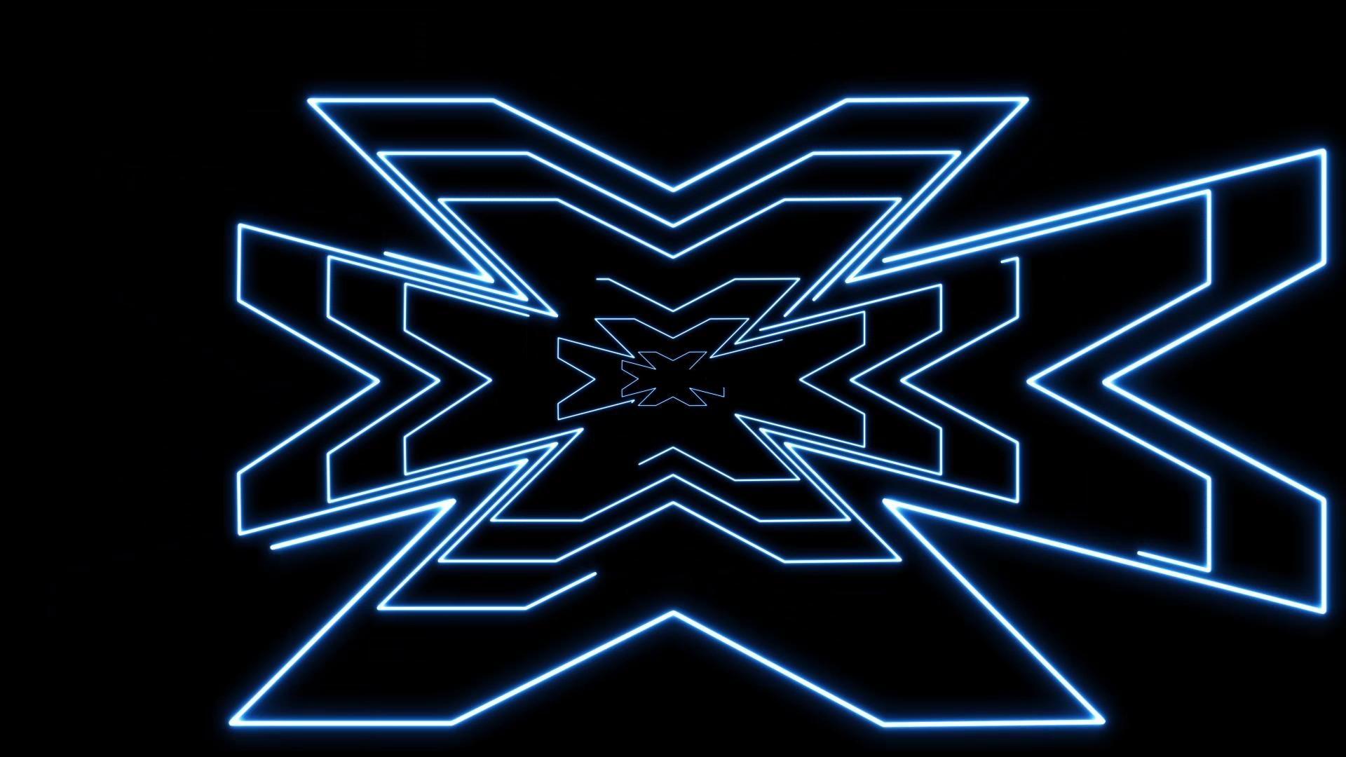 Lights Neon Lines. Blue Neon VJ Loop. VJ Neon Loop. Full HD loop.