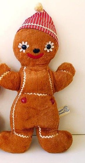 Gingerbread Man Stuffed Toy By Knickerbocker Gingerbread Anything