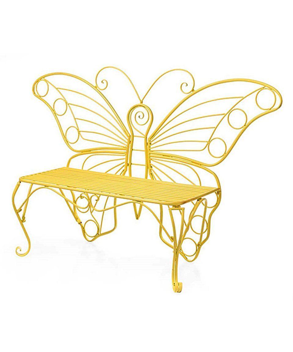Loving This Yellow Butterfly Garden Bench On Zulily Zulilyfinds