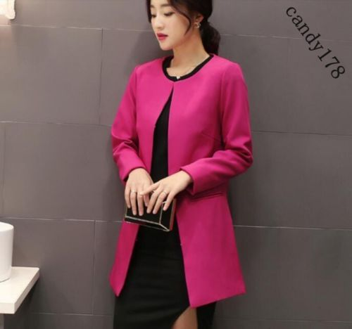 Stylish Women Mid Style Trench Coat Slim Fit Korean Cardigans Form Work Clothing