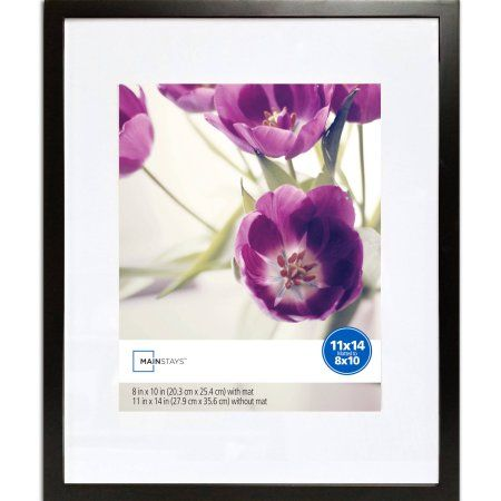 Mainstays 11x14 Matted to 8x10 Linear Frame, Black | Walmart and ...
