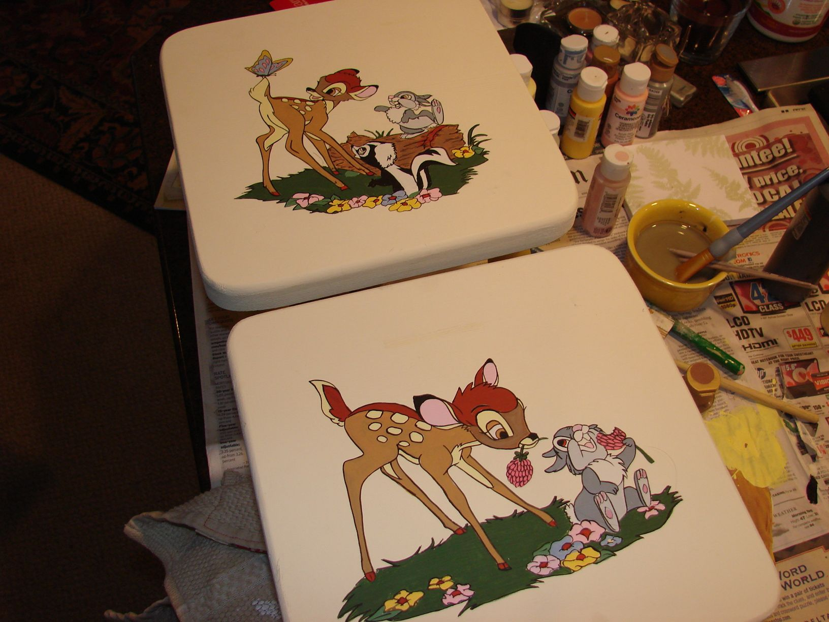 Painted for Kris' twin grandbabies!