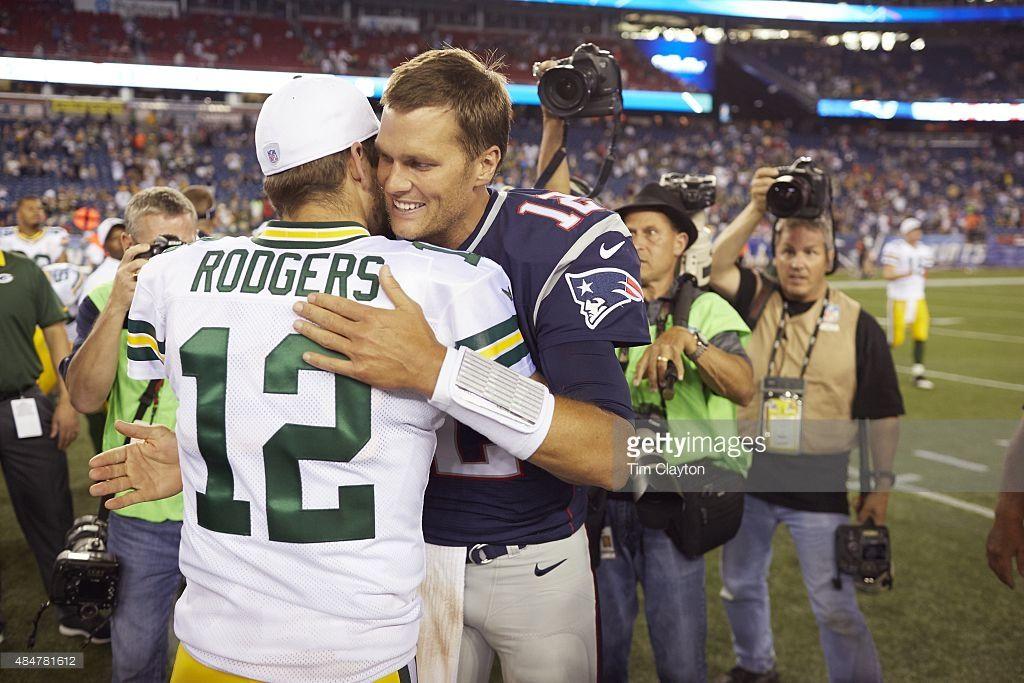 Rodgers And Brady Nfl Quarterback New England Patriots