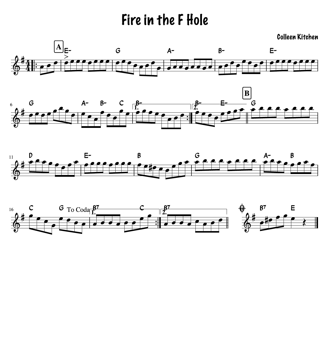 Fire in the fhole original fiddle tune by