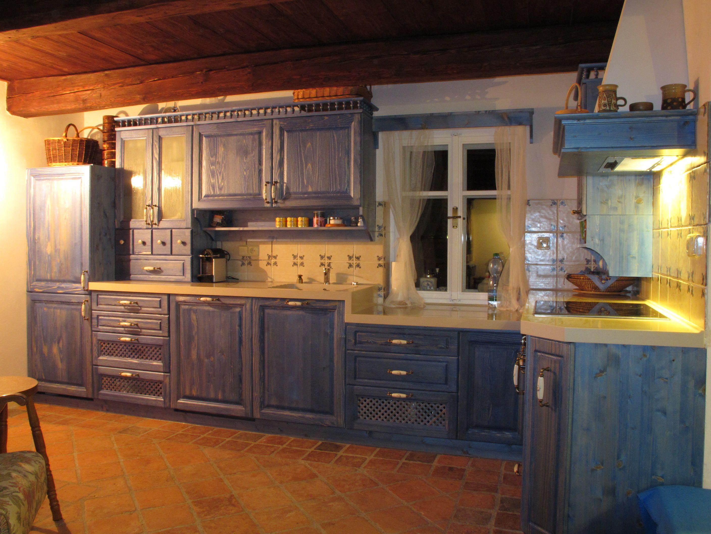 Rustical kitchen. France style. Located on Krkonoše woods ...