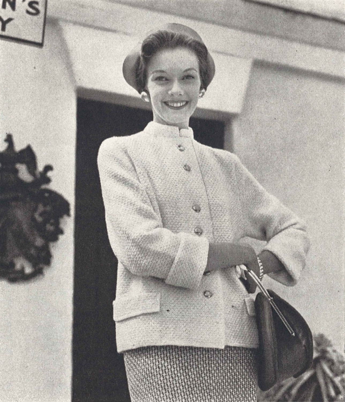 Melinda Jacket • 1950s Knitting Button Cardigan Sweater • 50s ...