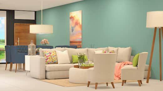 10 Colores Fabulosos Para Pintar Las Paredes De Una Sala Pequena Colores Para Salas Pequenas Salones Minimalistas Pintar La Sala