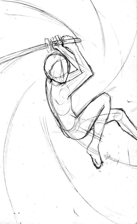 Base Katana Strike By Hermengarde Deviantart Com On Deviantart Sketches Art Reference Art Reference Poses