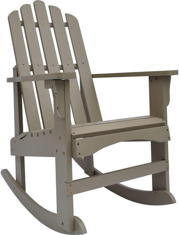 Outstanding Adirondack Breakwater Bay Janes Solid Wood Rocking Chair In Andrewgaddart Wooden Chair Designs For Living Room Andrewgaddartcom
