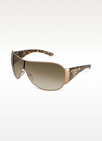 592eec7589 Prada Triangle-Crest Shield Sunglasses Ray Ban Sunglasses Price