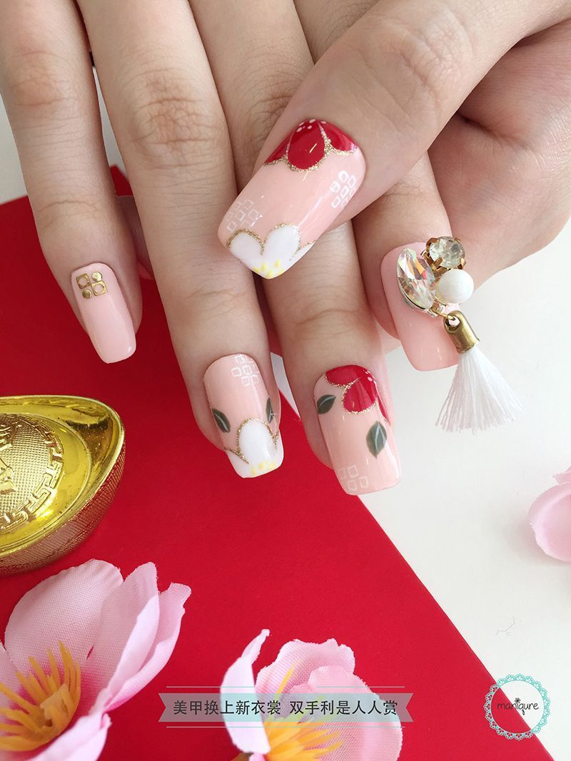 Chinese New Year Nail Art CNY Manicure in 2020 Pig nail