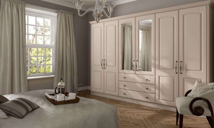 A Classic And Timeless Shaker Style Built In Wardrobe In Cream