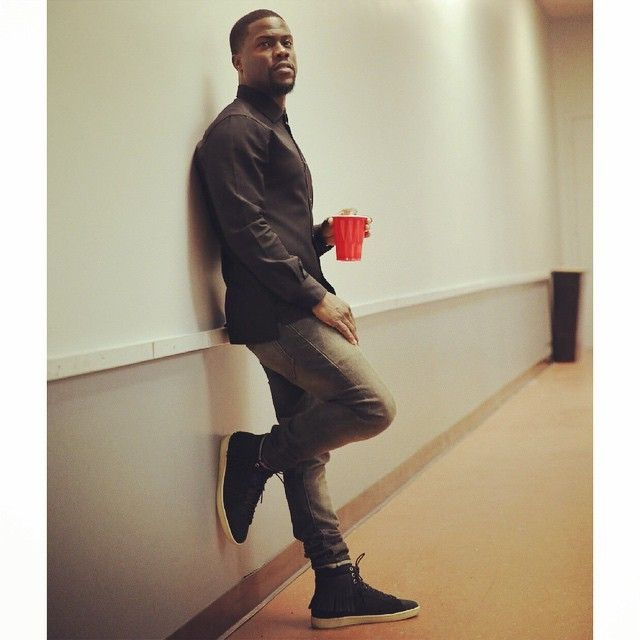 Kevin Hart Wears Saint Laurent Fringed High-Top Sneakers at Rochester  Comedy Show  246a0ed26