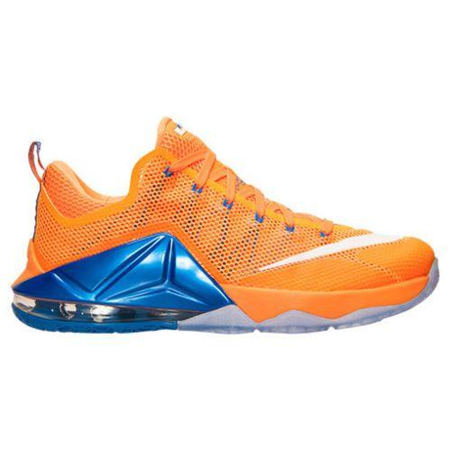 d557e53e6e4d Nike-Lebron-XII-12-Low-Orange-Blue-Cavs-Hardwood-Classic-724557-838 -Basketball