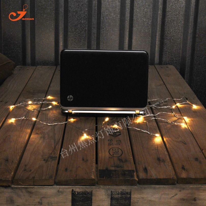 Wholesale USB 5V Warm Amber 10 LED Bulb String Lights Starry