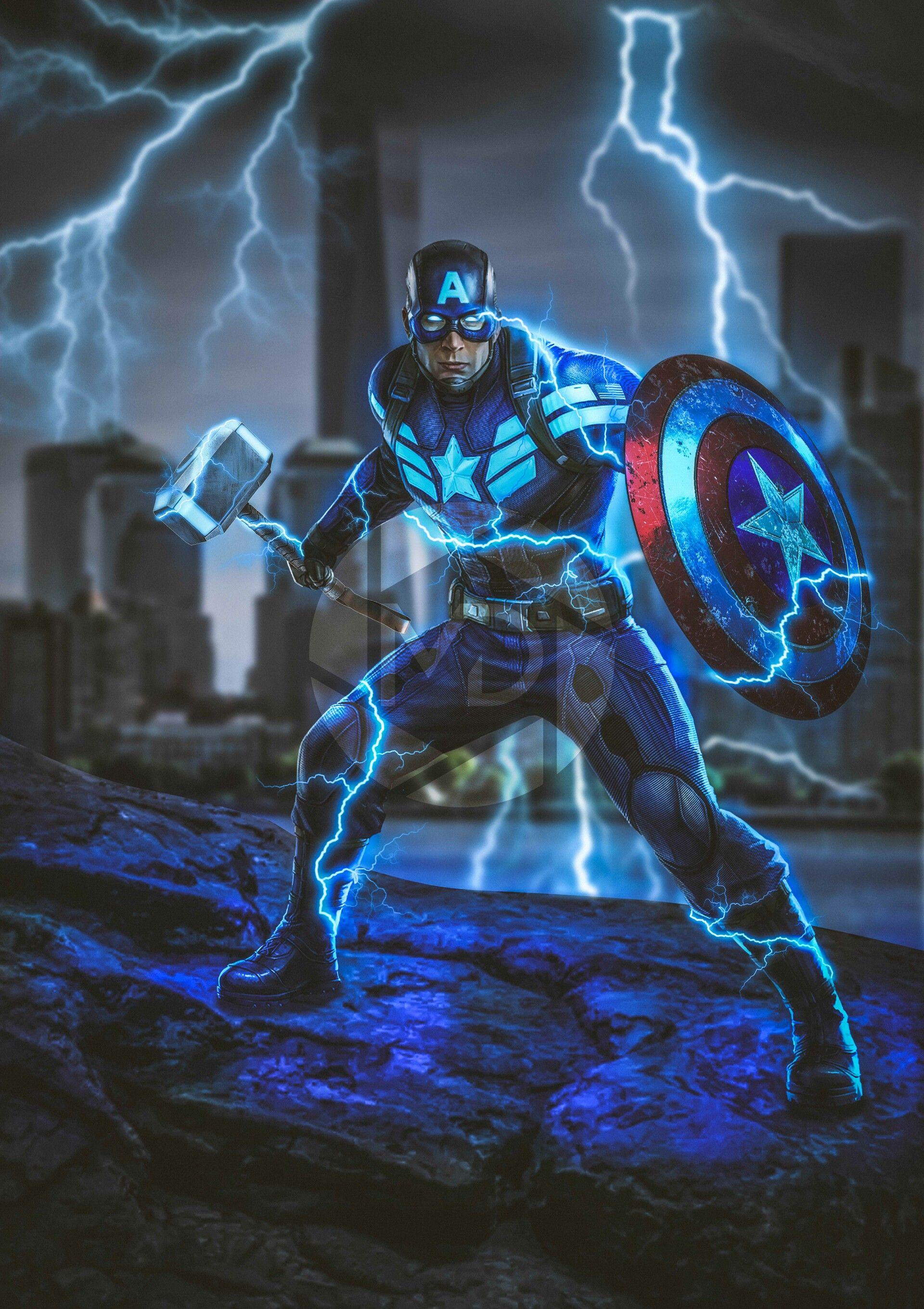 Artstation Avengers Endgame Captain America Michael Van Der