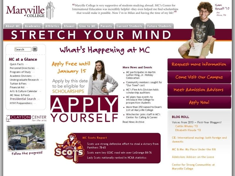 Maryville College Maryville college, Tennessee colleges