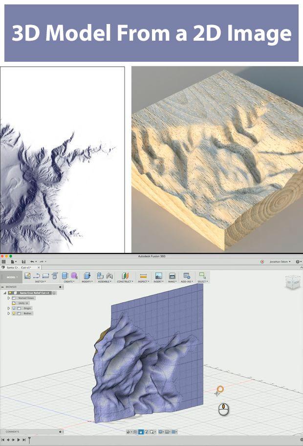 Turn a 2D Image Into a 3D Model   Fusion 360   Cnc software