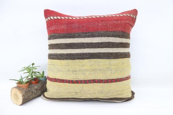 18x18 Turkey Kilim Pillow, Ottoman Pillow, Best Pillow,Pillow Cover,Throw Pillows, Home Decor Pillow