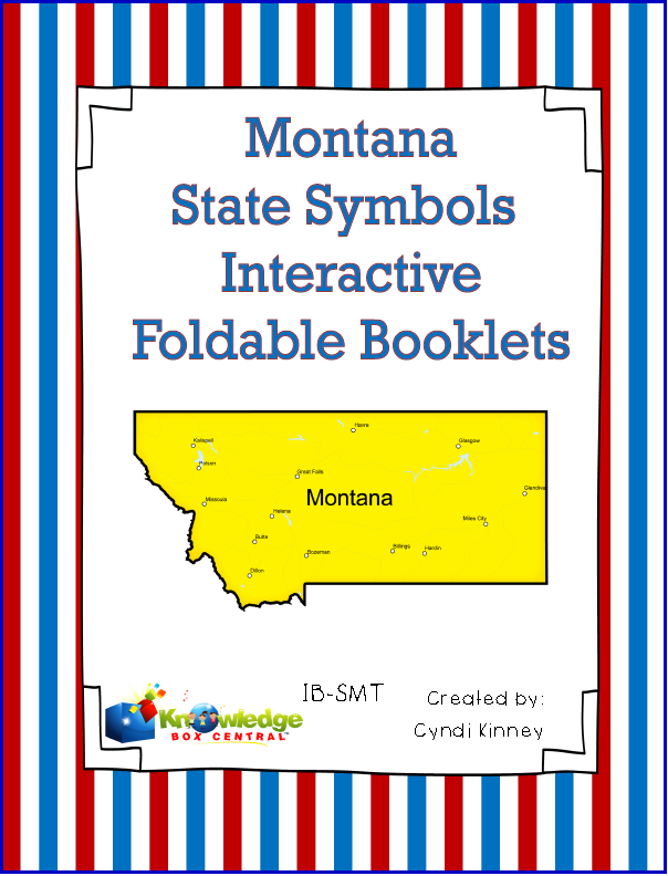 Montana State Symbols Interactive Foldable Booklets Knowledge Box
