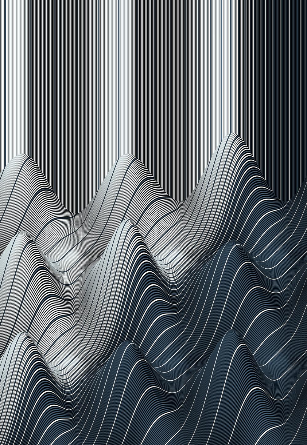 Behance Zoeken Wave illustration, Vector artwork