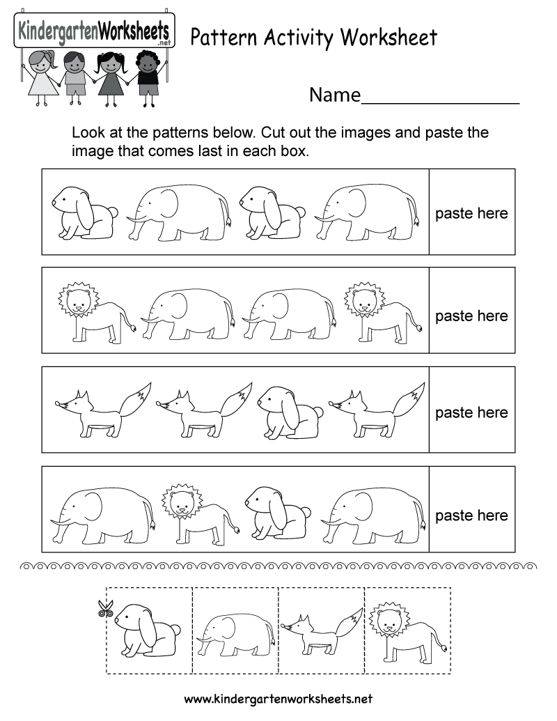 This Is A Cute Pattern Activity Worksheet For Kindergarteners You