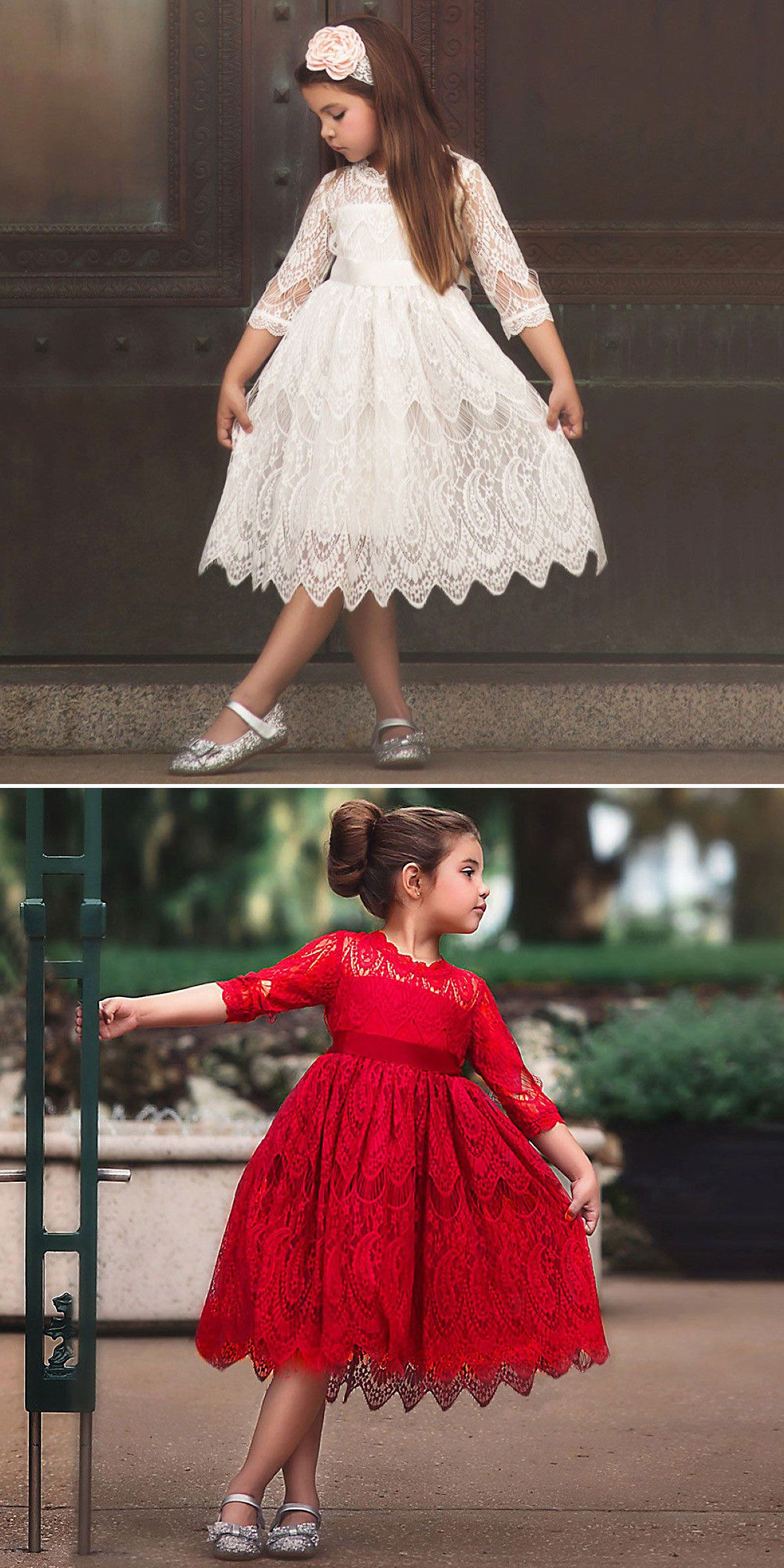 80a30a880b73 US  10.98 Toddler Kids Baby Girl Lace Flower Princess Tulle Party Pageant Dresses  Clothes  Girls