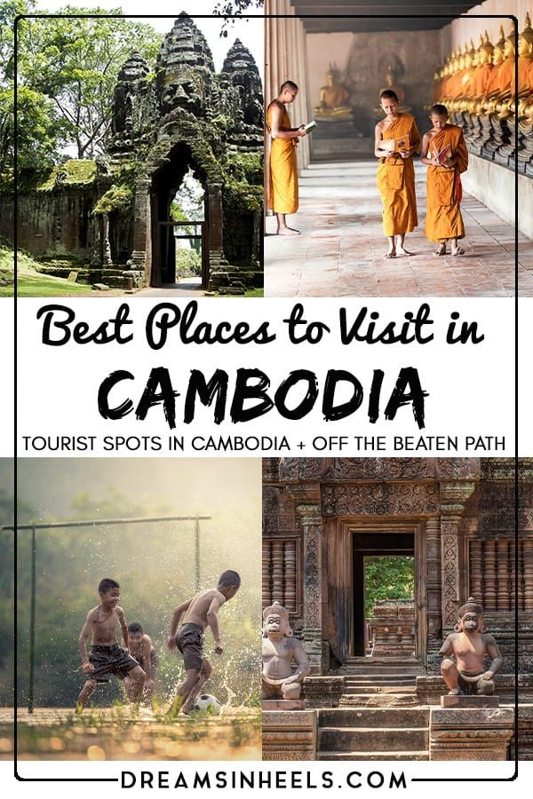 Planning a trip to Cambodia? Cambodia is an incredible country full of beautiful and rich culture, lovely locals, good food, yet simultaneously, the country has a devastating history. With so much on offer, what are the best places to visit in #Cambodia? In this post, you can find a list of the places you do not want to miss, including tourist spots + off the beaten path destinations in Cambodia. #Southeastasia #Southeastasiatravel #Asiatravel #Cambodiatravel #traveltips via @dreamsinheels
