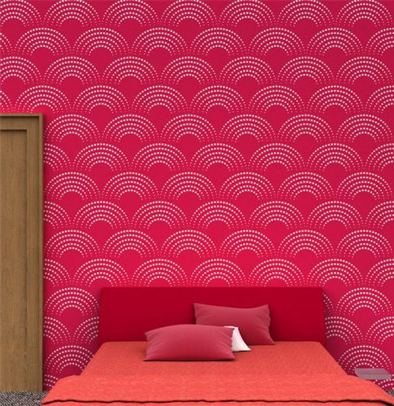 reusable geometric wall stencil 04 stencils for wall painting rh pinterest com