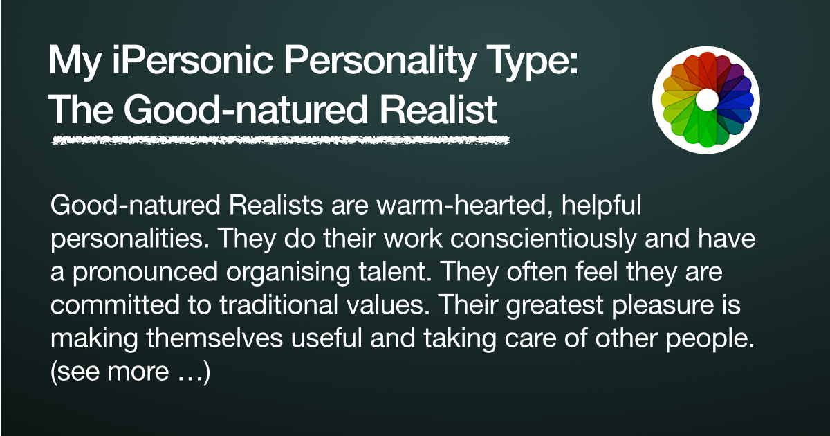 The good natured realist