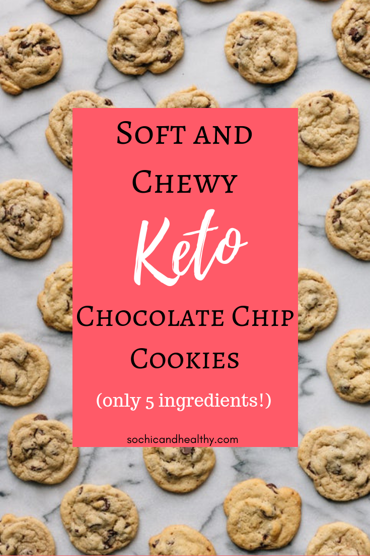 Keto chocolate chip cookies #ketodessert