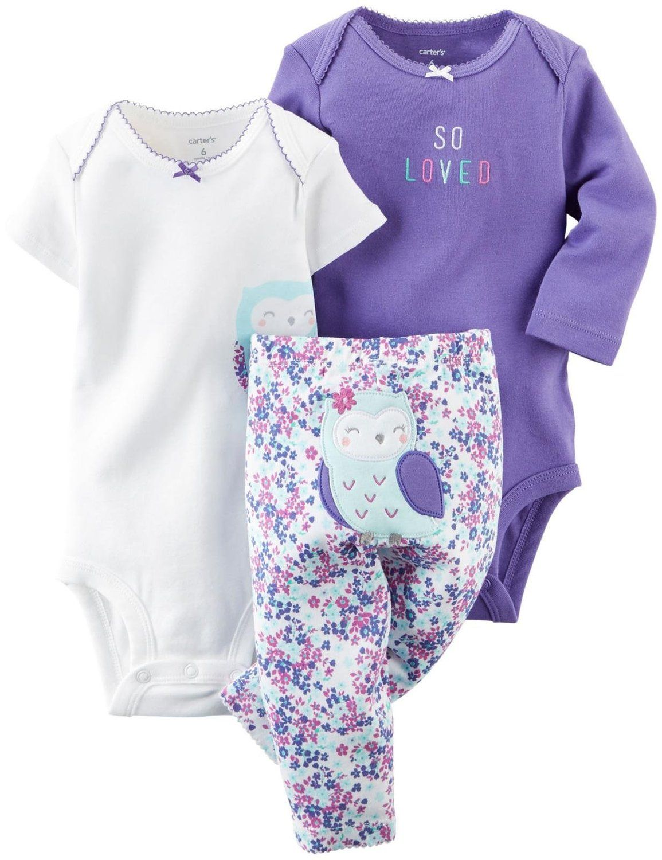 268d9728e Amazon.com: Carter's Baby Girls' 3 Piece Take Me Away Set (Baby): Clothing