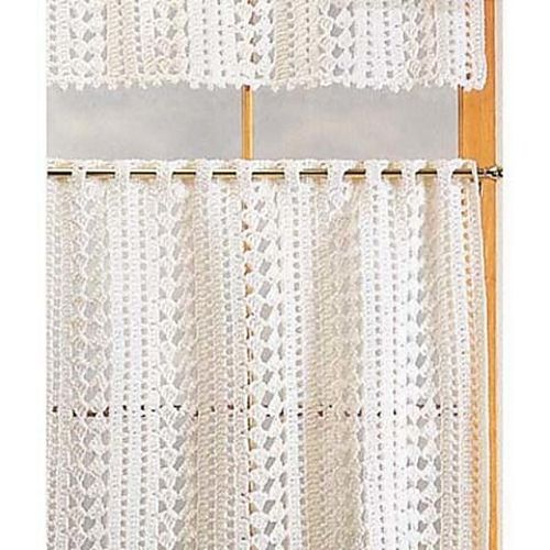 Ravelry Cafe Curtains Pattern By Herrschners Crochet Curtain Pattern Crochet Curtains Curtain Patterns