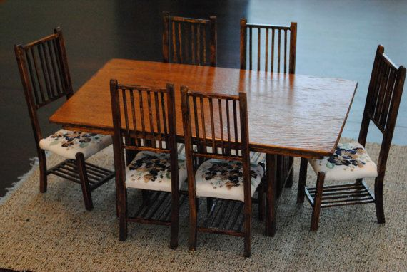 Precut Kit For 1 6 Scale Miniature Furniture By Bradsoriginals 40 00 Furniture Dining Room Table Miniature Furniture Furniture