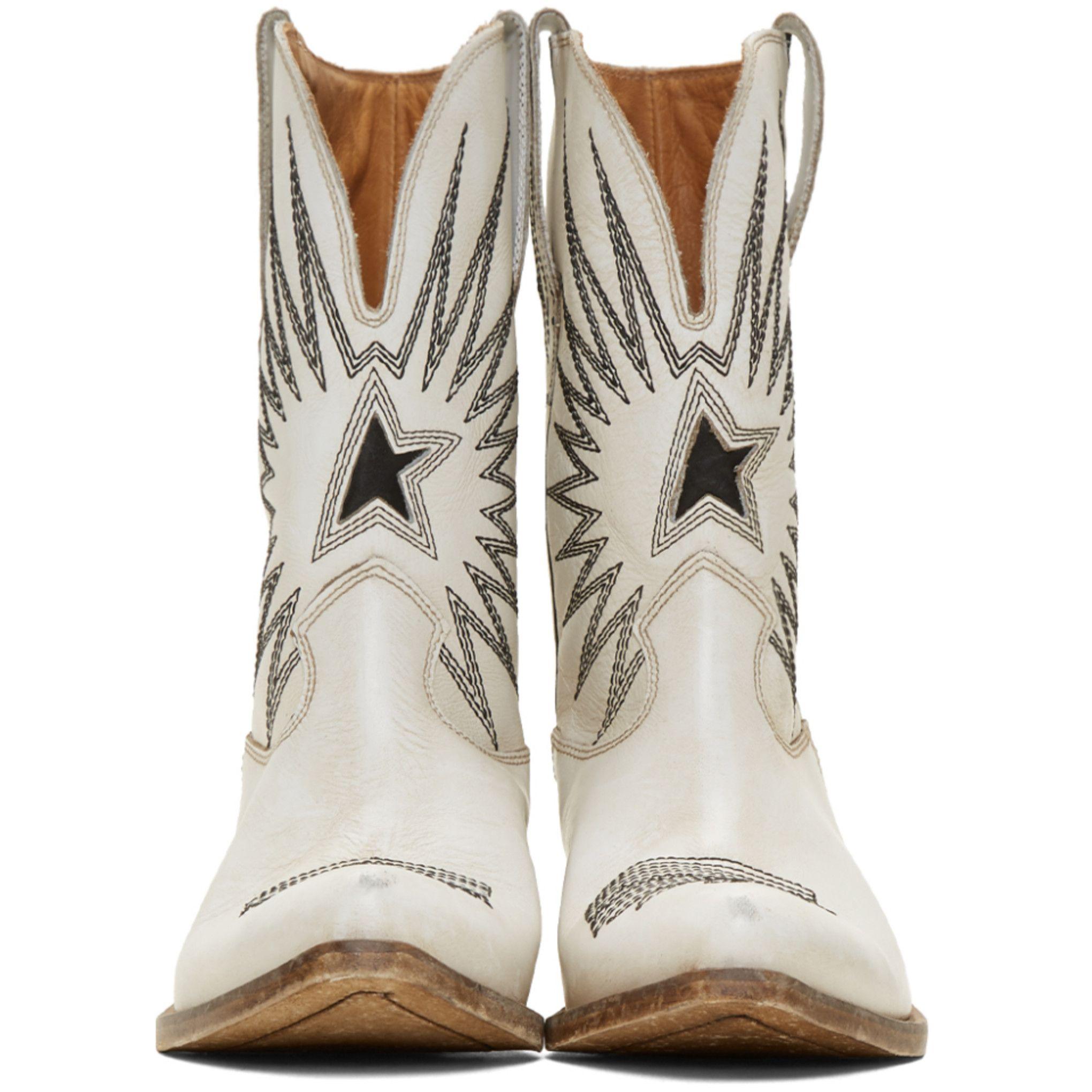 Golden Goose: White Wish Star Boots