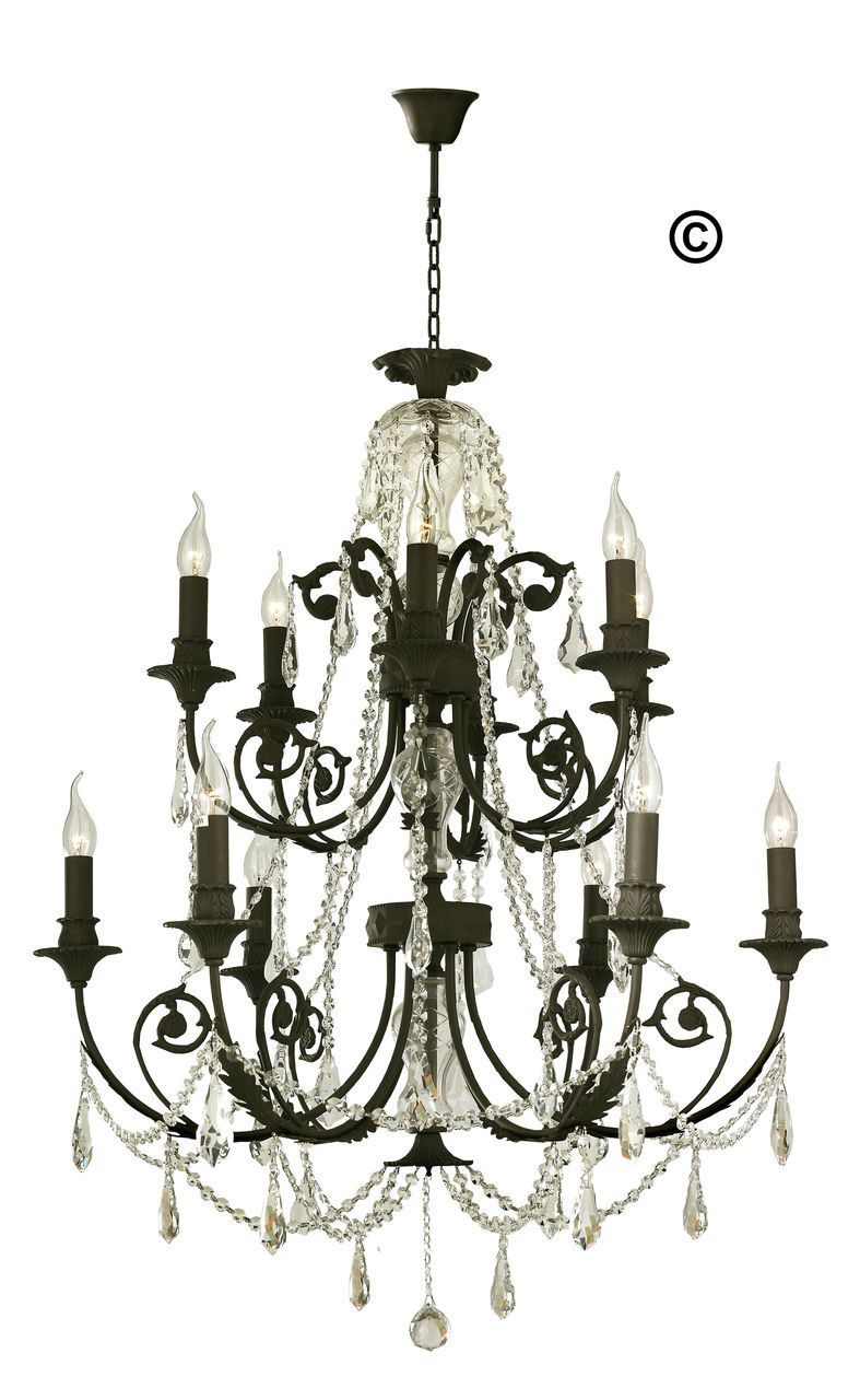 french provincial iron chandelier 12 arm wrought iron finish
