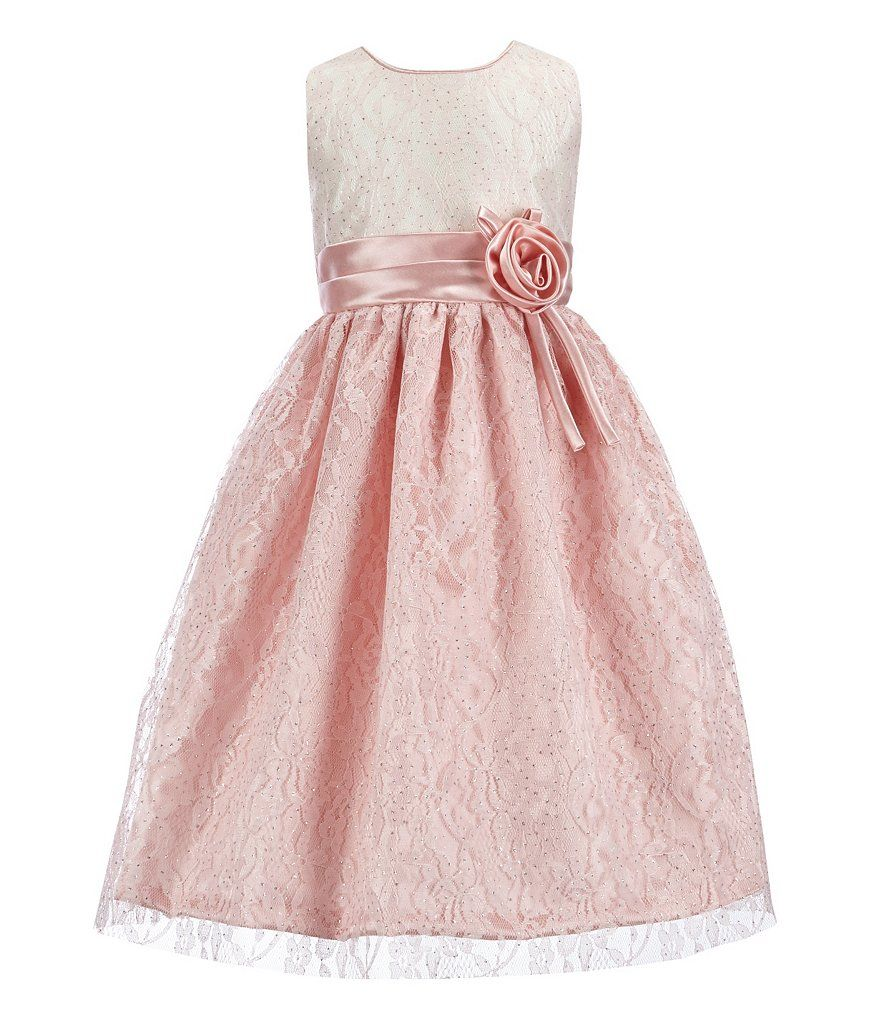 Jayne Copeland Little Girls 2T-6X Lace Colorblocked Gown   party ...