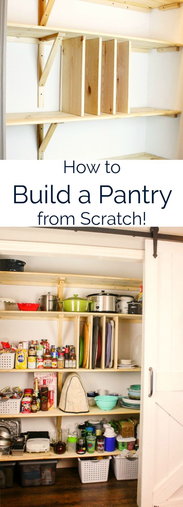 Easy step-by-step directions to build your own pantry in just a weekend! This on... - #Build #directions #Easy #pantry #pantryorganizationideas #pantryredosmall #stepbystep #weekend #pantryshelving