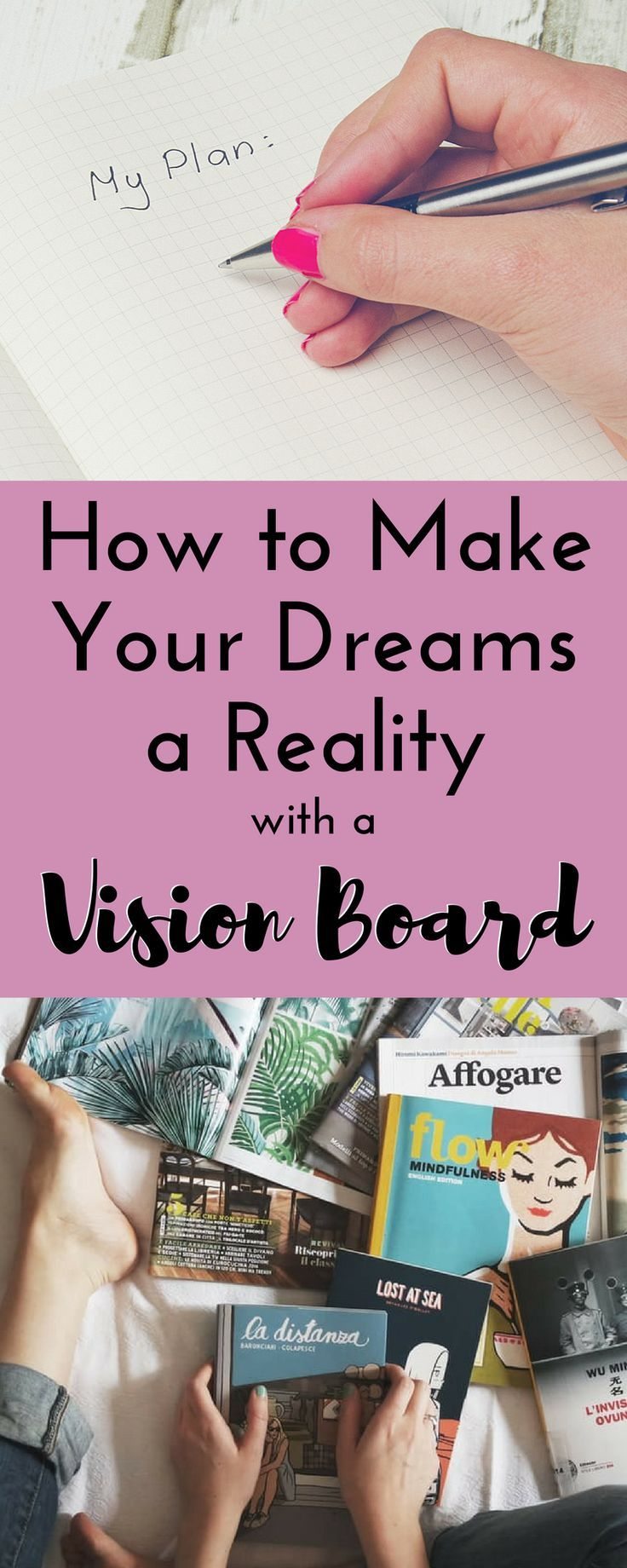 Visualization Is A Proven Tool To Help You Reach Your Goals, Which Is Why I  Believe A Vision Board Is So Effective! I Am Sharing Step By Step Tips To  Make A ...