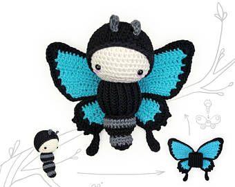 Amigurumi Caterpillar : Crochet pattern lalylala ulysses butterfly u2022 amigurumi caterpillar