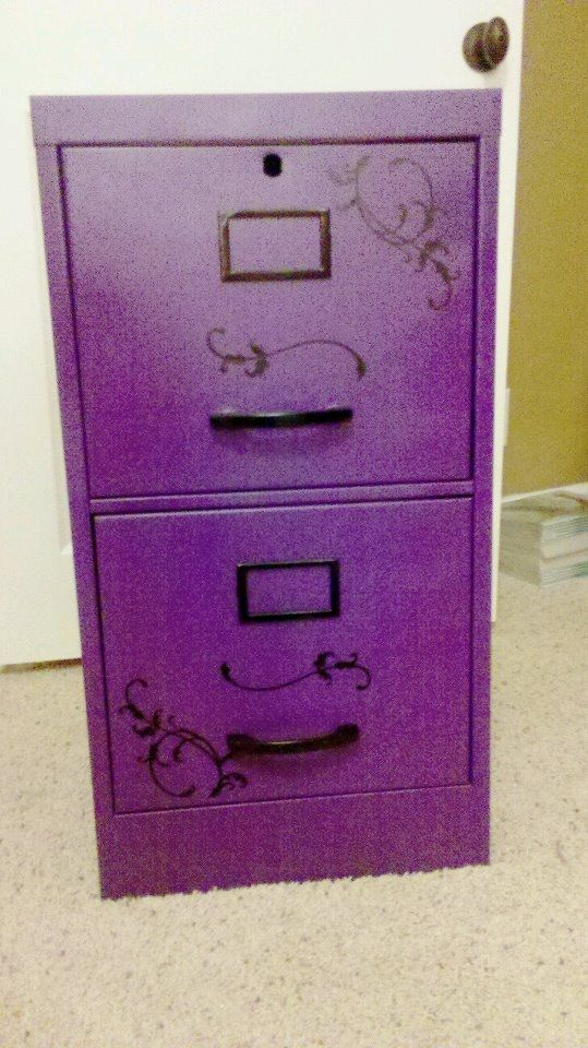 Scrumptious Purple Filing Cabinet Purple Decor Purple Office Purple Love