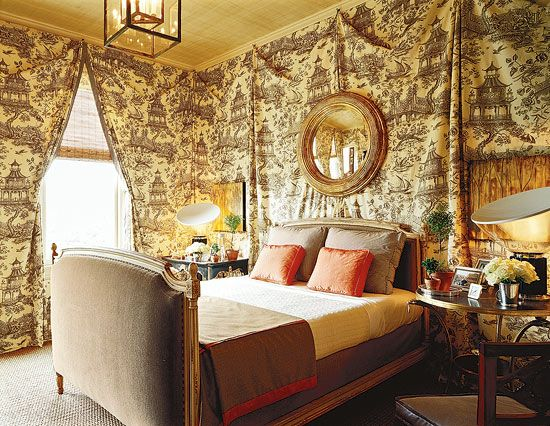 French Toile Decorating Ideas: Bedroom Decorating Ideas: Totally Toile