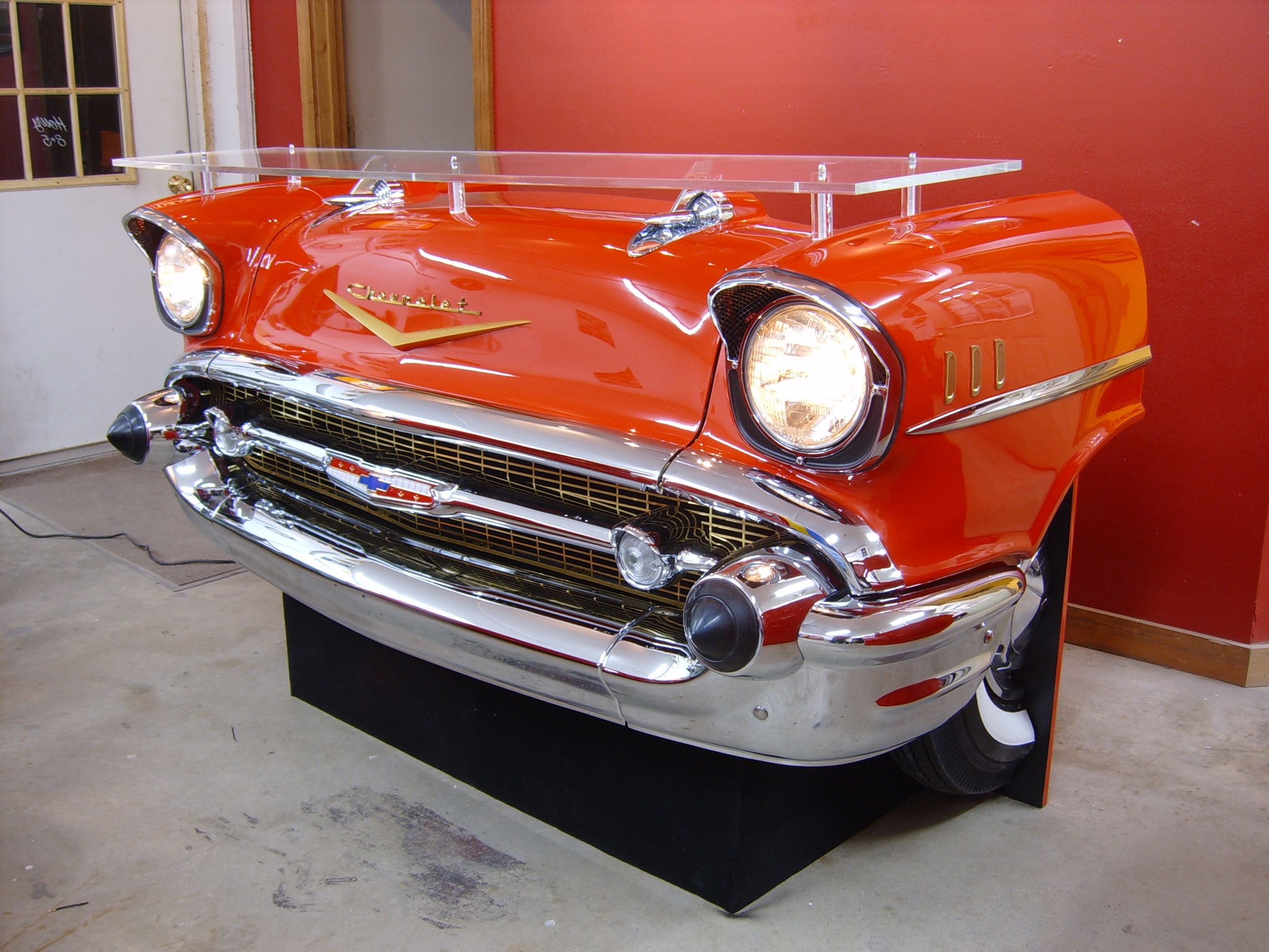 Car Desks Reception Desk Made From A Real Front End Would Be Awesome At A