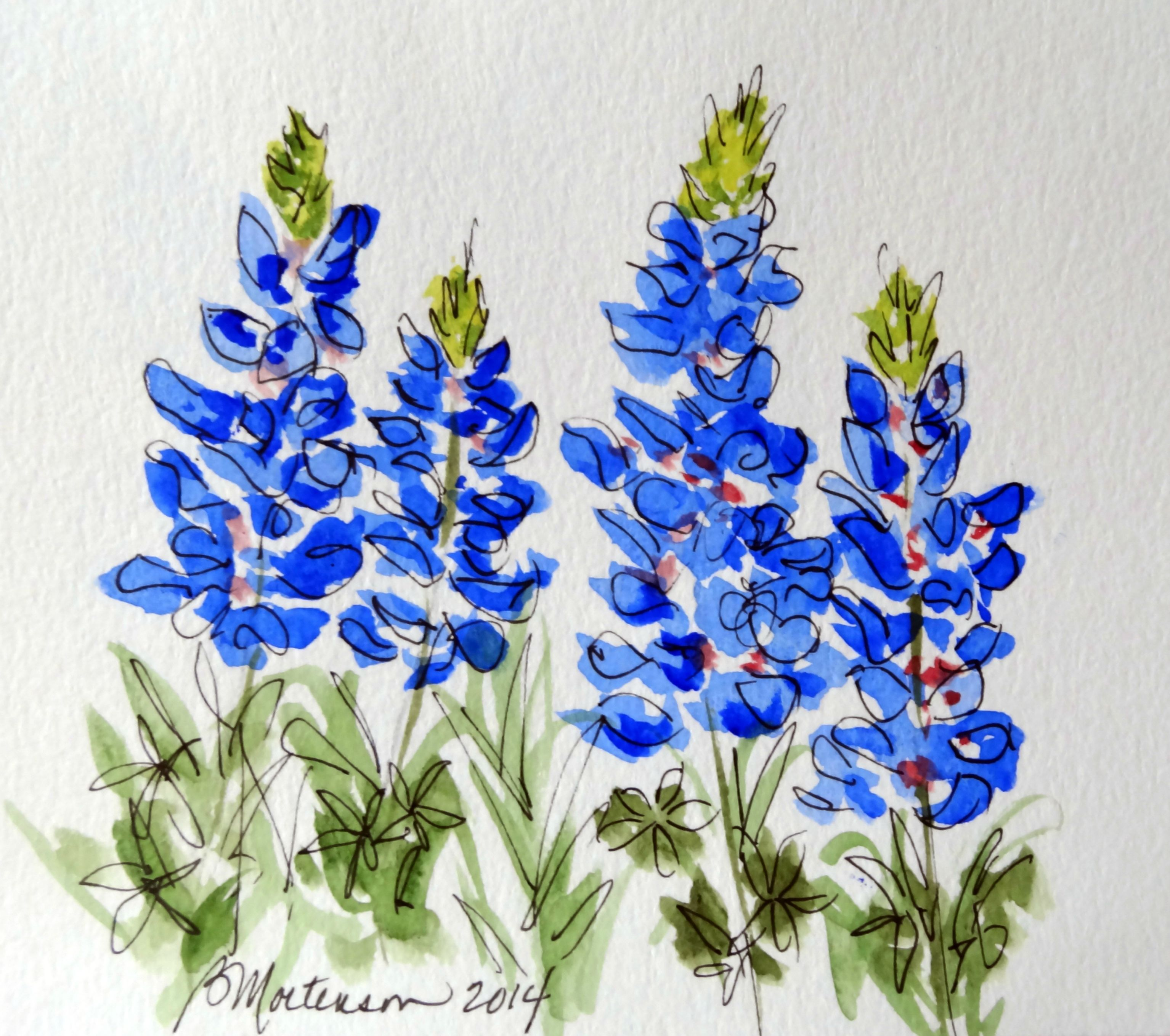 Watercolor Deep In The Heart Pinterest Watercolor Texas And