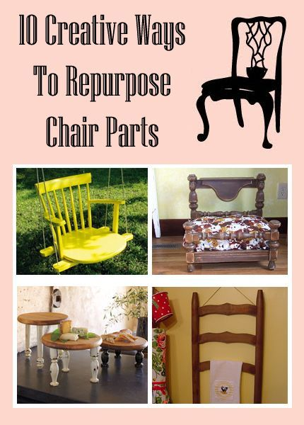 10 Creative Ways To Repurpose Chair Parts is part of Chair parts - You will see chair back, legs, spindles, even entire chairs given new purpose in some seriously creative ways